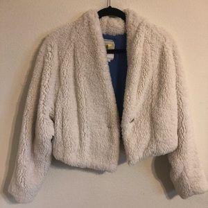White fluffy jacket anthropology
